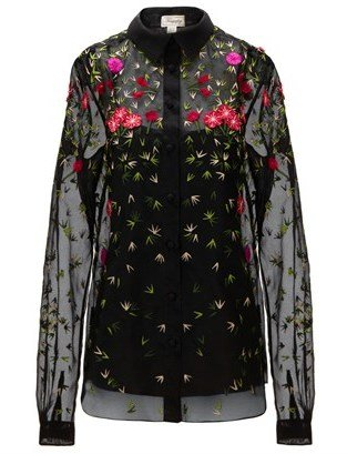 Temperley London Embroidered Primrose Silk Blouse