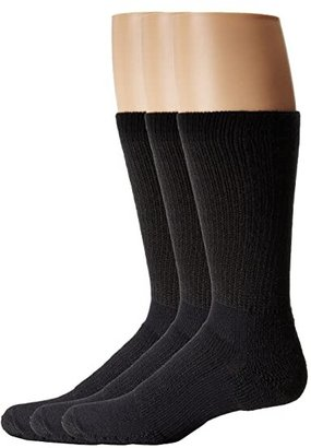 Thorlos Walking Crew 3-Pair Pack (Black) Crew Cut Socks Shoes