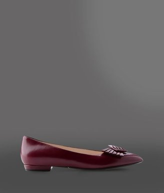 Giorgio Armani Pointed Ballet Flat With Bow