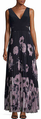 Xscape Evenings Printed Chiffon Floor-Length Gown