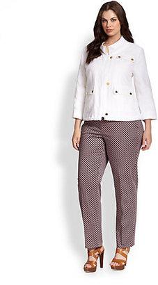 MICHAEL Michael Kors MICHAEL MICHAEL KORS, Salon Z Linen Wide-Collar Jacket