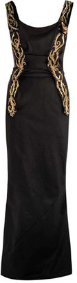 Vivienne Westwood Embroidery panel detail fluted gown