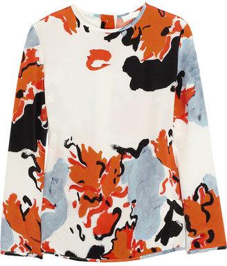 Michael Van Der Ham Printed silk top