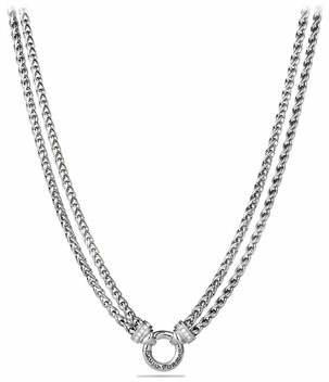 David Yurman Double Wheat Chain Necklace with Diamonds