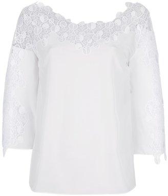 Versace lace panel blouse