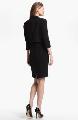 Tahari Sleeveless Dress & Ruffled Jacket