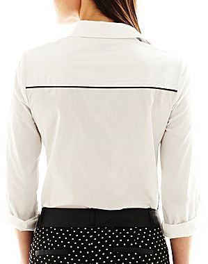 JCPenney I 'Heart' Ronson® Colorblock Button-Front Shirt
