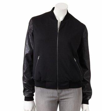 Apt. 9 mixed-media baseball jacket - women's