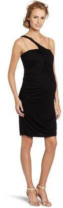 Jules & Jim Women's Maternity Body Con One Shoulder Dress