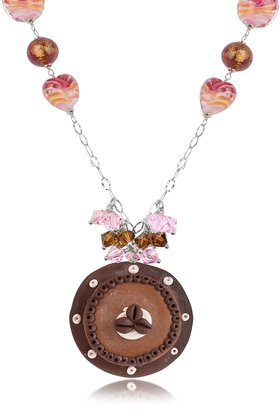 Dolci Gioie Sterling Silver Chocolate Cake Necklace