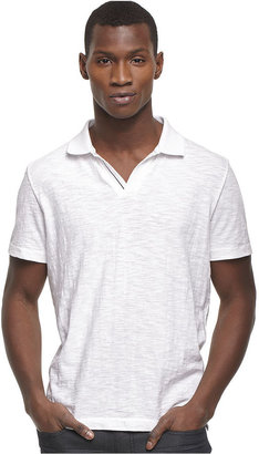 Kenneth Cole Reaction Shirt, Short Sleeve Dressy Slub Polo Shirt