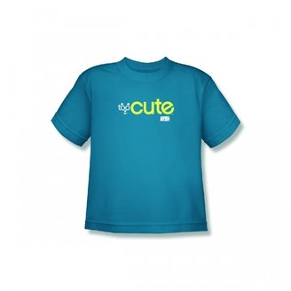 Too Cute Youth Cat T-Shirt-Turquoise