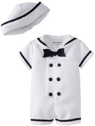Rare Editions Baby Girls Infant Nautical Boysuit with Hat