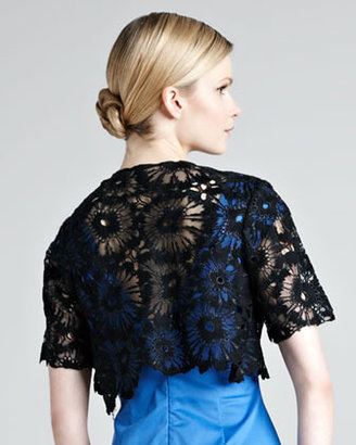 Lela Rose Lace Embroidered Bolero