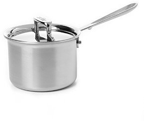 All-Clad d5 Stainless Brushed 2 Quart Sauce Pan with Lid