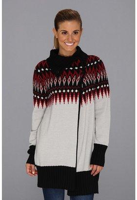 Exofficio Cafenista Wrap Sweater (Oyster) - Apparel