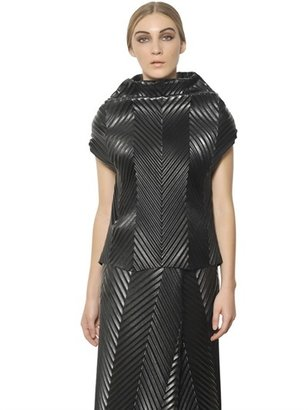 J.W.Anderson Chevron Faux Leather Pull On Top