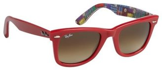 Ray-Ban red acrylic 'Original Wayfarer' sunglasses