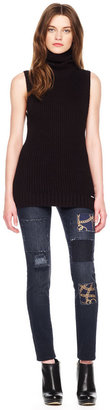 Michael Kors Cropped Patchwork Jeggings