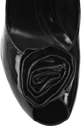 Sonia Rykiel Rosette-embellished patent-leather pumps