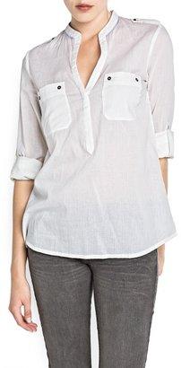 MANGO Long sleeved cotton blouse