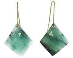 Necessary Stone Emerald Short Wire Earrings