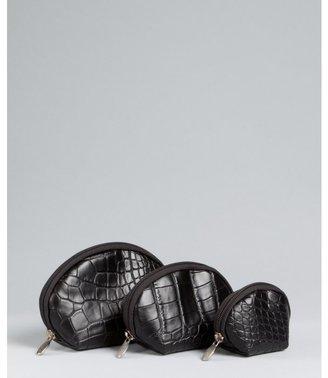 Furla onyx leather 'Matrioska' 3-in-1 cosmetics bag
