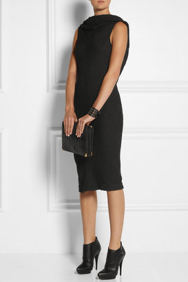 Rick Owens Textured stretch-crepe backless dress