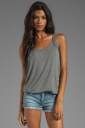 C&C California Stretch Rayon Jersey with Roping Tank