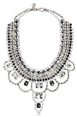 Juicy Couture White Rhinestone Drama Necklace