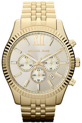 Michael Kors 'Large Lexington' Chronograph Bracelet Watch, 45Mm $275 thestylecure.com