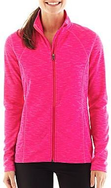 JCPenney Xersion Space-Dyed Full-Zip Knit Jacket