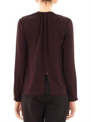 A.L.C. Open-back silk blouse