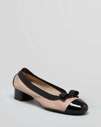 Salvatore Ferragamo Cap Toe Pumps - My Paris Low Heel