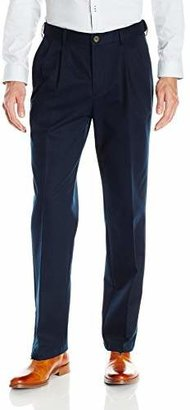 Haggar Men's Work To Weekend No Iron Twill Pleat Front Pant