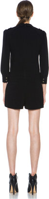 Skaist Taylor Military Acetate-Blend Romper in Black