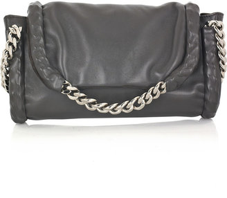 Yves Saint Laurent Chain-detailed leather clutch