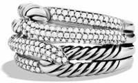 David Yurman Labyrinth Double-Loop Ring with Diamonds