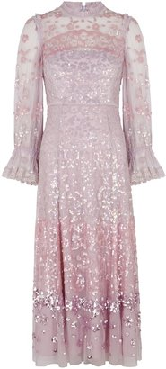 Needle & Thread Lilac Sequin-embellished Tulle Dress