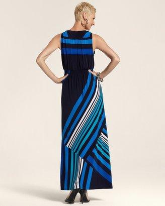 Chico's Stripe Maxi Sadie Dress