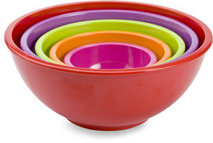 Zak Designs Zak! Designs® Colorways 5-Piece Assorted Mixing Bowl Set - Red