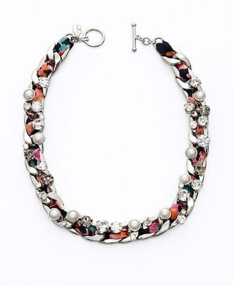 Ann Taylor Woven Floral Statement Necklace