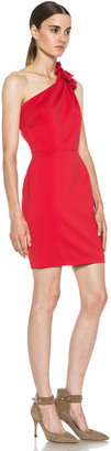 Valentino One Shoulder Dress in Red