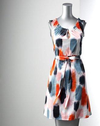 Vera Wang Simply vera brushstroke smocked dress