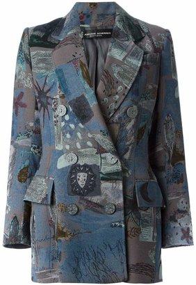 Jean Louis Scherrer Pre-Owned patterned double breasted blazer