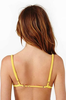 Nasty Gal Insight Folly Bralette - Yellow - Final Sale