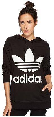 adidas Trefoil Hoodie (Black 2) Women's Long Sleeve Pullover