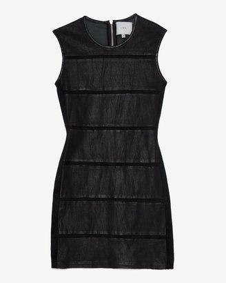 IRO Leather Panel Sheath Dress
