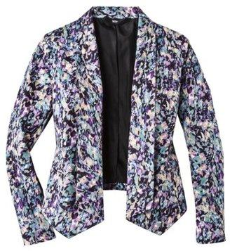 Mossimo Women's Printed Sateen Blazer Jacket