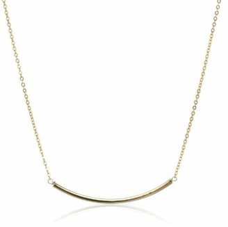 Yochi Delicate Gold-Plated Bar Necklace, 18""